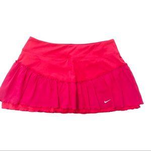 Nike Tiered Ruffled Athletic Skort Pink M